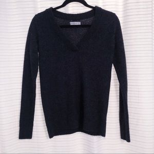 ABERCROMBIE & FITCH V-Neck Sweater Gray